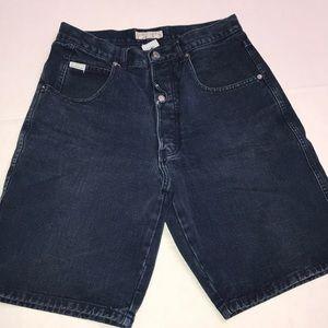 Guess Jean Shorts Sz 32 Bermuda Button Fly